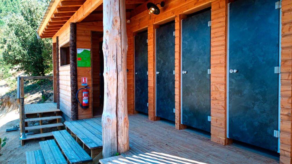 Salle d'eau - sanitaire 2 - camping écolo - bâtiment bois