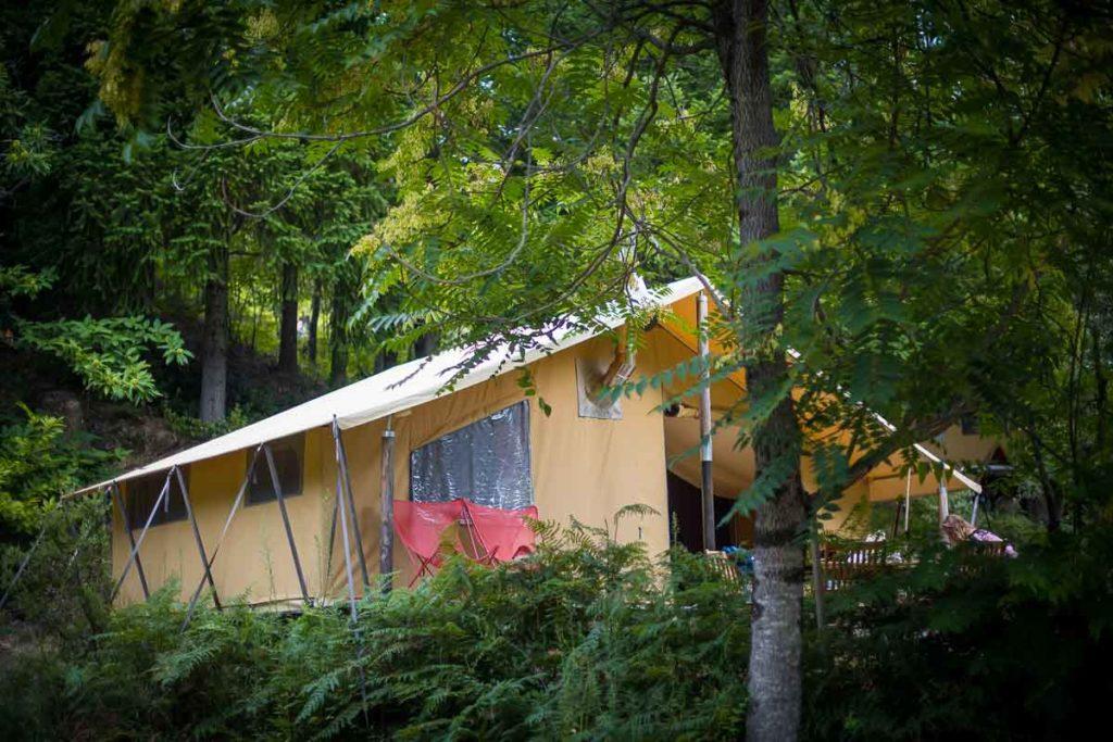 hebergement ecolodge nature ecotourisme tente canadienne glamping cevennes sud france gard occitanie languedoc